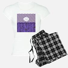 Maritime Monogram Purple Pajamas