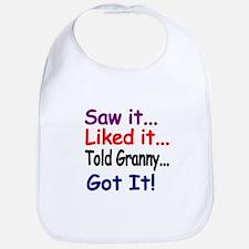 Saw it...Liked it...Told Granny...Got It! Bib