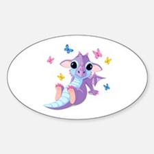 Baby Dragon - Sticker (Oval)