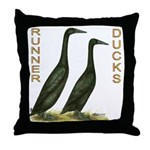 Black Runners Throw Pillow