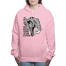 Save Elephants Women's Hooded Sweatshirt