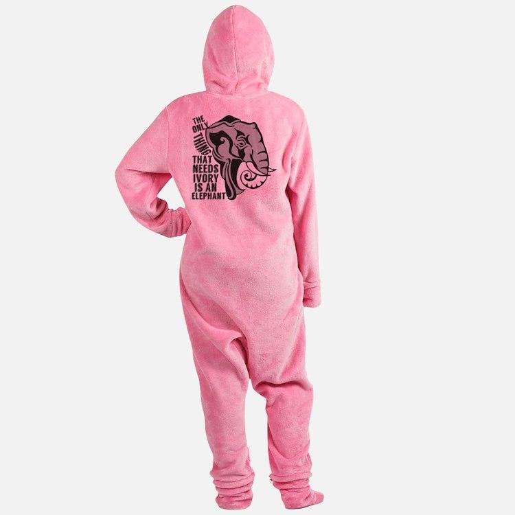 Save Elephants Footed Pajamas