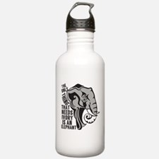 Save Elephants Water Bottle