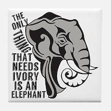 Save Elephants Tile Coaster