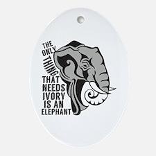 Save Elephants Ornament (Oval)