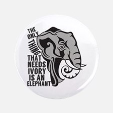 "Save Elephants 3.5"" Button"