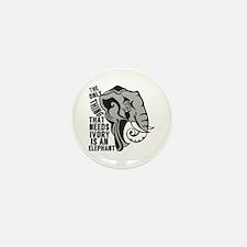 Save Elephants Mini Button (10 pack)
