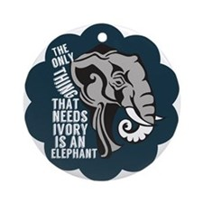 Save Elephants Ornament (Round)