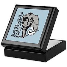 Save Elephants Keepsake Box