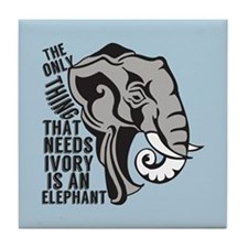 Save Elephants Tile Coaster