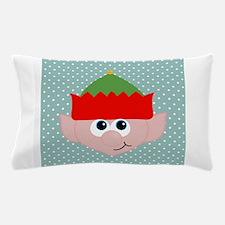 Christmas Elf on Blue Pillow Case