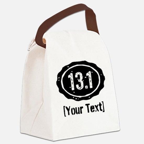 13.1 Personalized Half Marathon Canvas Lunch Bag