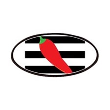 Chili Pepper on Stripes Patches