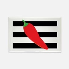 Chili Pepper on Stripes Magnets