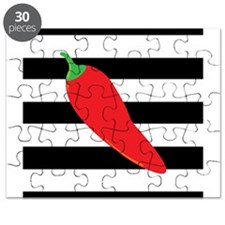 Chili Pepper on Stripes Puzzle