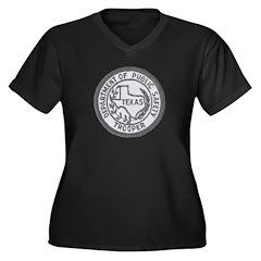 Texas Trooper Women's Plus Size V-Neck Dark T-Shir