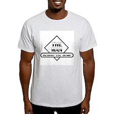 THE MAN BEHIND THE BUMP SHIELD BLACK T-Shirt