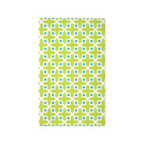 Cross Section Pattern Turquoise And 3u0027x5u0027 ...