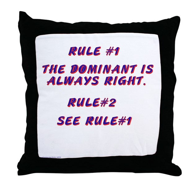 THE RULES! Throw Pillow by kinky_odd36