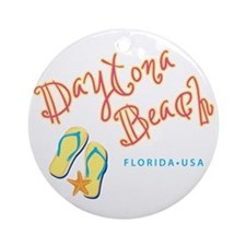 Daytona Beach Ornament (Round)