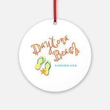 Daytona Beach Ornament (Round)