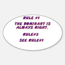THE RULES! Oval Decal