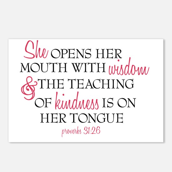 Proverbs 31:26 Speaks wit Postcards (Package of 8)