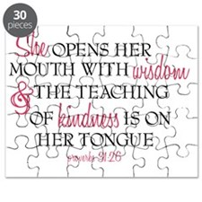 Proverbs 31:26 Speaks with Wisdom & Kindnes Puzzle