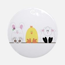 Easter Animal Border Ornament (Round)
