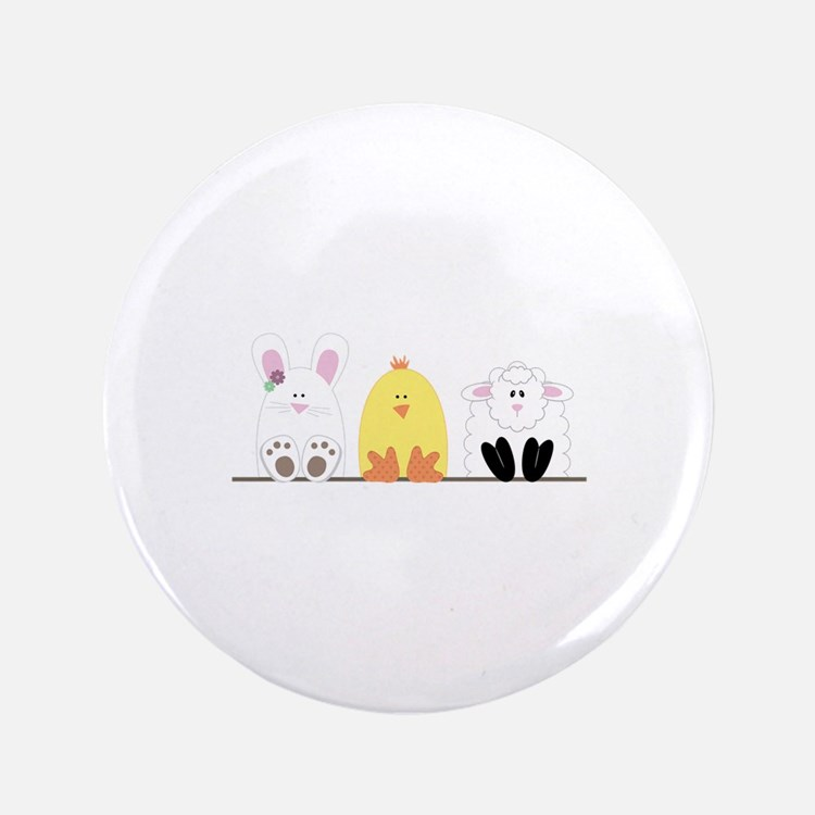 """Easter Animal Border 3.5"""" Button (100 pack)"""