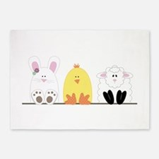 Easter Animal Border 5'x7'Area Rug