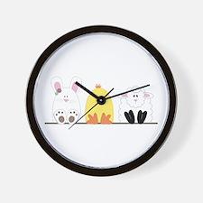 Easter Animal Border Wall Clock