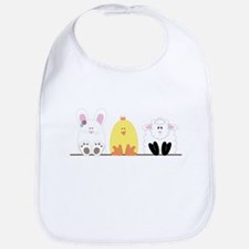 Easter Animal Border Bib