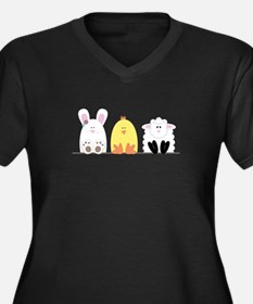 Easter Animal Border Plus Size T-Shirt