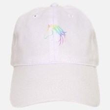 Soft Pastel Colored Horse Head Logo Hat