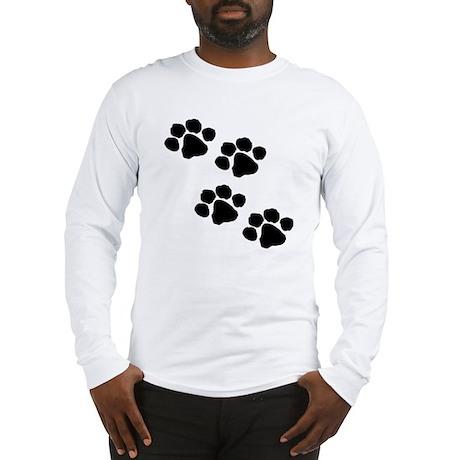 Pet Paw Prints Long Sleeve T-Shirt