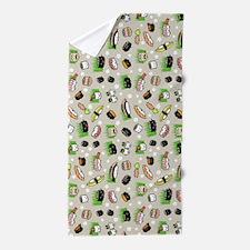 Sushi Characters Pattern Beach Towel