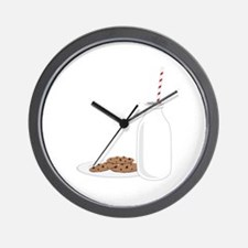 Chocolate Chip Cookies Milk Wall Clock
