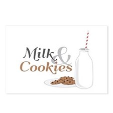 Milk & Cookies Postcards (Package of 8)