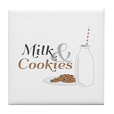 Milk & Cookies Tile Coaster