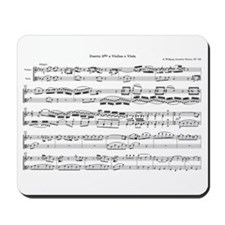 Mozart Sheet Music Mousepad