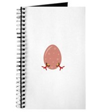 Egg with Chick Legs Journal