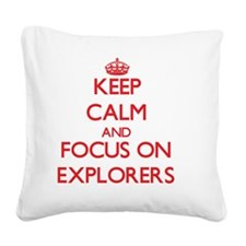 Unique Searcher Square Canvas Pillow