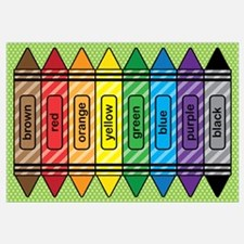 Rainbow Crayons Wall Art
