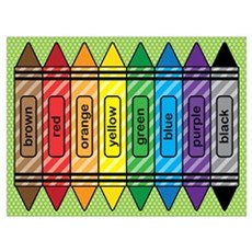 Rainbow Crayons Wall Art Canvas Art