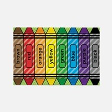 Rainbow Crayons Rectangle Magnet