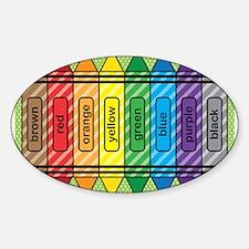 Rainbow Crayons Decal