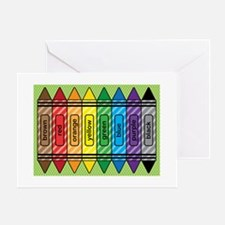 Rainbow Crayons Greeting Card