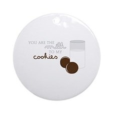Milk to Cookies Ornament (Round)