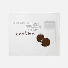 Milk to Cookies Throw Blanket